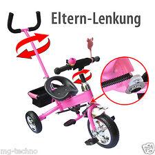 Dreirad Kinder Lenkstange Kinderdreirad 2-5 Jahre Fahrrad Rot Blau Pink