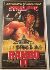 VHS Rambo III (1988) Action mit Sylvester Stallone FSK 16 Guter Zustand