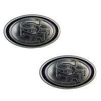 2pc NFL San Francisco 49ers 3-D Chrome Plastic Auto Car Truck Emblem Made in USA