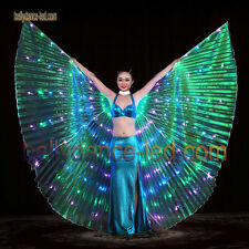 3 colored LED isis wings belly dance club show light performance blue green pink