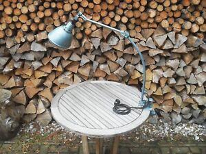alte originale Midgard Lampe Gelenkarmleuchte Bauhaus Werkstatt Industrie Loft