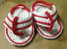 Sandalias Bebe Crochet 0/3 Meses Zapato  Alpargatas Patucos Rojo Recién Nacido
