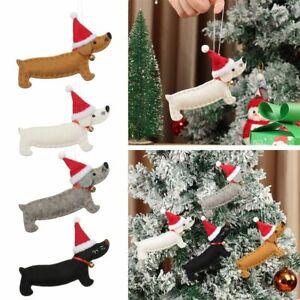 Holiday Decor Dachshund Dog Ornaments Christmas Tree Accessories Xmas Pendant