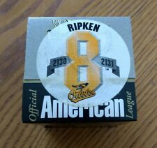 CAL RIPKEN JR COMMEMORATIVE AMERICAN LEAGUE BASEBALL 2130-2131 Baltimore Orioles