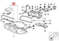 Genuine BMW 5 Series E39 Sedan Wagon Headlight Repair Kit OEM 63128362435 95-00