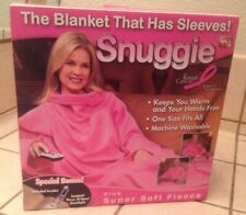 Snuggie Blanket With Sleeves Super Soft Fleece Solid Pink Womens NEW NIB