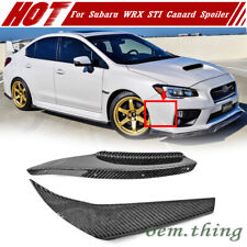 Carbon Fiber For SUBARU WRX STI 4th Front Side Canard Fin Vent Air Knife Spoiler