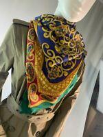 Christian Dior Paisley Emblem Silk Scarf