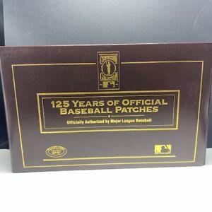 Willabee Ward anniversary patch badge emblem MLB 125 years baseball folder case