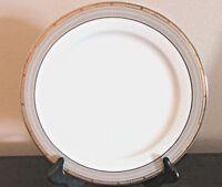 Mikasa Cambridge Fine China Chop Platter Gold & Gray Bands