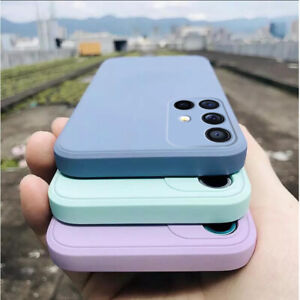 For Samsung A52 A32 A72 S20 FE S21 Ultra A51 Square Liquid Silicone Phone Case