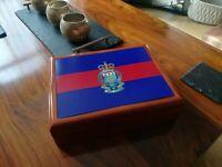 Royal Army Ordnance Corp Premium Military Medals and Memorabilia Box,