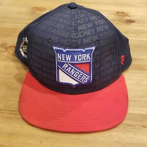 New York Rangers Fanatics Authentic Pro Snap Back Hat Adjustable Blue Red Adult
