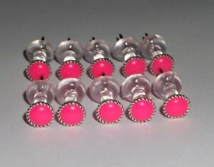 30 Neon Hot Pink thumb tacks/push pin, Office School Decor, Cork Memory Board