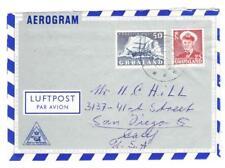 Greenland Sc#35,#32-SDR.STROMFJORD 12/6/1955-FORMUL:AR AIR LETTER-