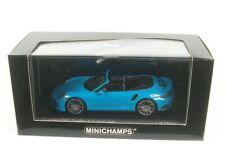 Porsche 911 991.2 Turbo S Cabriolet Blue 2017 Minichamps 1/43