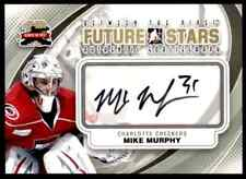 2011-12 BETWEEN THE PIPES FUTURE STARS AUTHENTIC GOALIEGRAPHS MIKE MURPHY AUTO