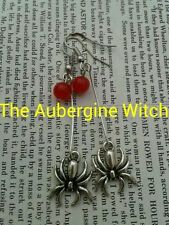 Spider Earrings handmade witch, halloween gothic