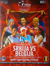Serbia vs Belgium Fed Cup 2016 Match Program Jelena Jankovic Yanina Wickmayer