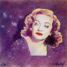 ORIGINAL MIXED MEDIA Hollywood Artist Small Signed 1970-1989 Realism Betty Davis