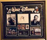 Walt Disney Original Drawing Signed And Authenticated - Custom Framed Display
