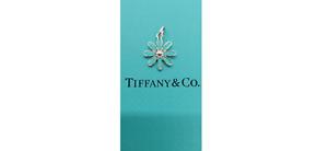 Tiffany & Co. Silver 925 Blue Enamel Daisy Flower Charm