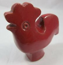 Vintage Red Ceramic Cockerel / Rooster / Chicken - Simple Form