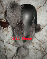 NEW Russian Ushanka Bomber Aviator Real Silver Fox Fur Trooper Traper Winter Hat