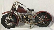 """Motorcycle Sculpture 20"""" x10""""  Mixed Media (Resin, Metal & Rubber)-Heinimex Corp"""