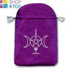 SENSUAL WICCA SATIN BAG PURPLE EMBROIDERED CARDS LO SCARABEO 160x225 MM NEW
