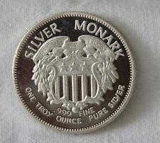 1 OZ ONE SILVER MONARK .999 FINE SILVER (FROM ORIGINAL ROLL) UNCIRCULATED