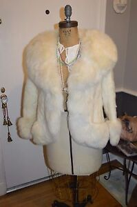 blonde beige mink fox fur coat jacket