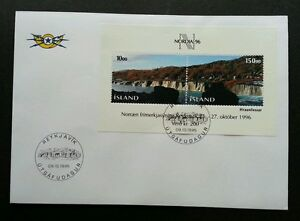 Iceland Stampexhibition NORDIA '96 1995 Nature Mountain (miniature FDC)