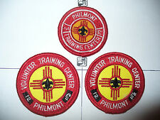 3 1960s Philmont Training Center SMALL Patches,pps,BSA Scout Ranch,New Mexico,NM