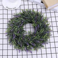 Artificial Door Hanging Lavender Flower Wreath  Garland Home Wedding Decor