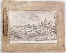 AUTHENTIC ANTIQUE ALBUMEN 1800s PHOTOGRAPH PHOTO EARTHQUAKE AT LISBON 1755 TOWN