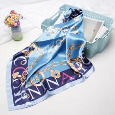 """Women's Fashion Blue Print Square Scarf Soft Shawl Hijab Scarves 35""""*35"""""""