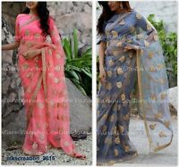 Saree Ethnic Traditional Wedding Bollywood Indian Designer Sari Pakistani BD