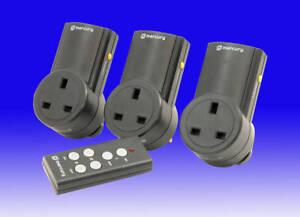 Remote Control  Socket Adaptor Set - 3 Socket Switch Energy Saving