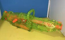 NERF Vulcan EBF-25 Sonic Series Neon Translucent Clear Green with Orange