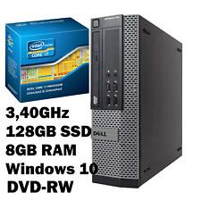 PC System:Dell OptiPlex 790 Intel Core i7 8X3,40GHz 128GB SSD 8GB DVD-RW WIN 10