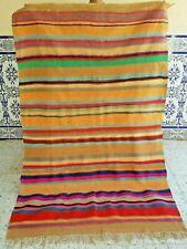 "Old Moroccan Antique Kilim rug Handmade rug Wool Azilal Tribal Berber 6'1"" x3'9"""