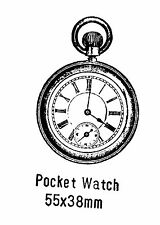 Pocket Watch Rubber Stamp