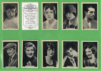 Tobacco cigarette cards set Cinema Favourites 1929