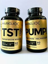 TST 1700 Testosterone Booster & PUMP 2400 Nitric Oxide NO Amino XL Muscle X