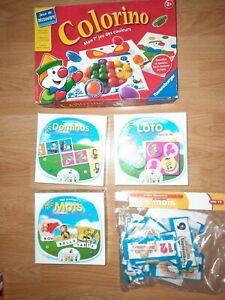 Lot de 5 Boîtes Jeux  Memory Loto  Domino Colorino Premiers mots.