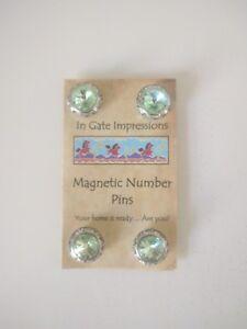 CHRYSOLITE Magnetic number pins horse show number magnet holders Swarovski Cryst