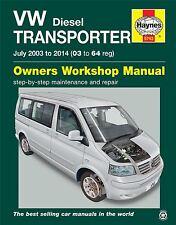 VW Transporter T5 1.9 2.0 2.5 Diesel 2003-2014 Haynes Workshop Manual