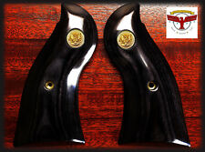 RUGER REDHAWK SQUARE BUTT GRIPS ~ BLACK DIAMOND® + GOLD LIBERTY EAGLE MEDALLIONS