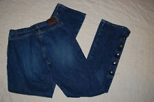Jr Womens ROCKIES RIDING JEANS Button Fly MED BLUE Boot Cut w/ Snap Sides SIZE 5